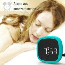 Horloge de bureau avec affichage par mode numérique   En Silicone, active par la voix, quatre Modes de luminosité, câlins, offres