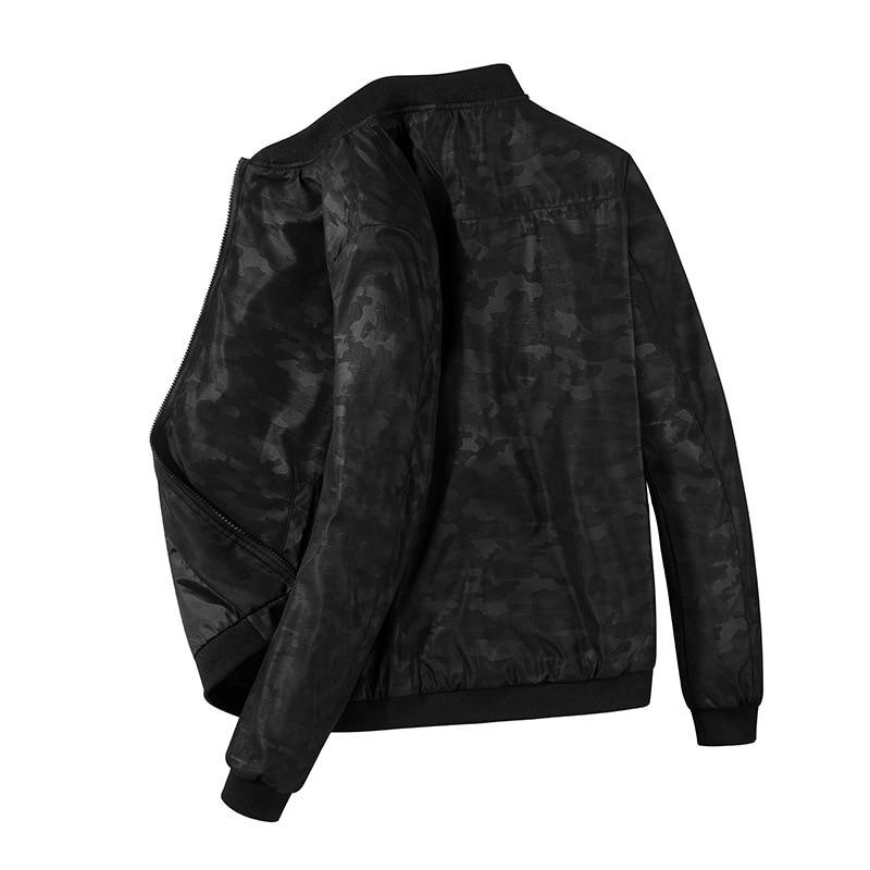 Nuevo Hombre Casual cómodo Streetwear hombres bombardero cremallera chaqueta de alto grado Slim Fit piloto top abrigo hombres dropshipping ropa