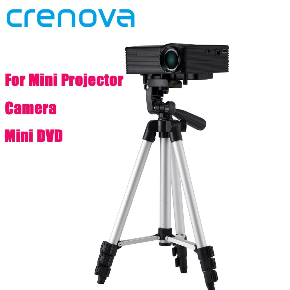 Crenova 1060mm portátil extensible Universal de aluminio de viaje soporte de montaje de trípode para Mini proyector XPE498 XPE499 XPE500 DL-310