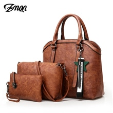 ZMQN sacs à main femmes sac à main 3 ensembles 2020 Vintage combinaison sac à bandoulière pour femmes PU cuir sac à main dame Bolsa Feminina C653