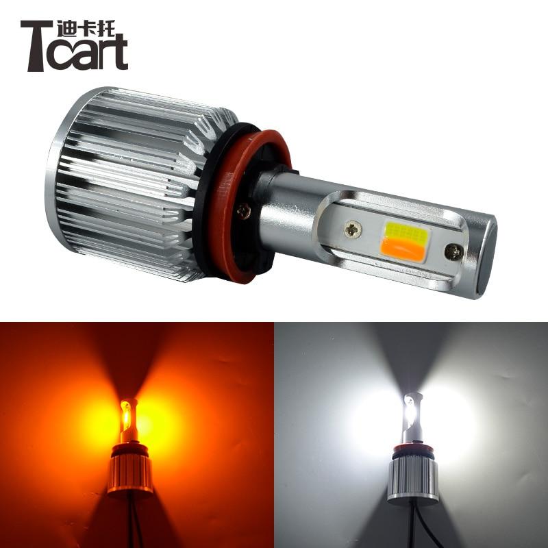 Tcart 2 uds H8 PGJ19-01 30W luces antiniebla led de alta calidad luces de giro antiniebla para coches envío gratis
