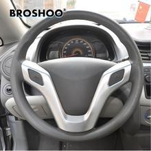 BROSHOO para Chevrolet New Sail cromo adhesivo para cubierta del volante etiqueta 2010, 2011, 2012, 2013, 2014 vela 3 Estilo de coche