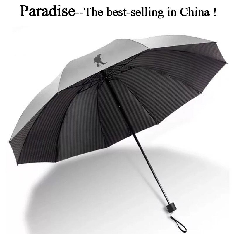 Marca grande guarda-chuva masculino dobrável corporation anti-uv à prova de vento grande claro guarda-chuvas menino chuva portátil sol feminino chinês
