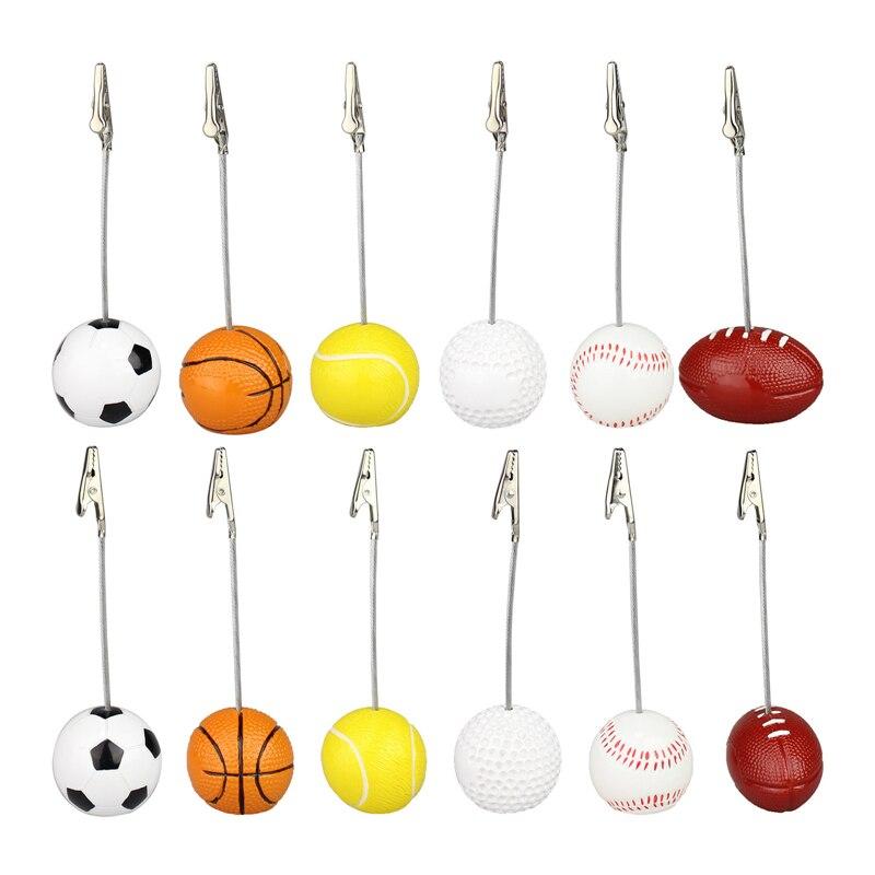 1 pc 4-5.1 cm Suporte Do Memorando de Futebol Bola de Futebol Forma Memo Paper Clips de Metal para Mensagem Foto Decoração