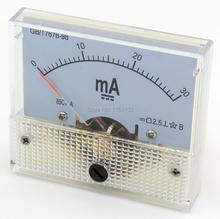 85C1-MA DC pointeur ampèremètre compteur de courant 1mA 20mA 30mA 50mA 100mA 200mA 300mA 500mA 85C1 série ampèremètre analogique 64*56mm taille