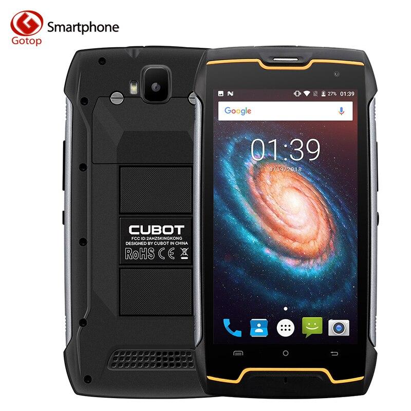 Teléfono Móvil Cubot Kingkong MT6580 Quad Core Android 7,0 Smartphone 2GB RAM 16GB ROM IP68 teléfono móvil desbloqueado impermeable