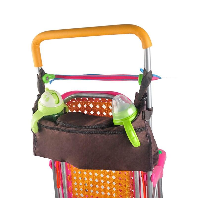 Baby Kinderwagen Organizer Kinderwagen Tasche Zubehör Tasse Halter Wagen Windel Tasche für Kinder Flaschen Pflege Schwarz/rosa/blau /kaffee