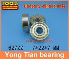 (1pcs) Miniature deep groove ball bearing 627ZZ 627-2RS S627ZZ S627-2RS 7*22*7 mm