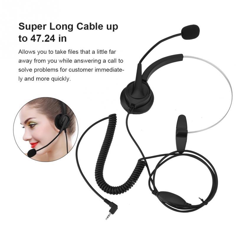 Profissional headset call center com 2.5mm cabo com plugue + Volume + Mute telefone headset para 2.5mm jack Telefone