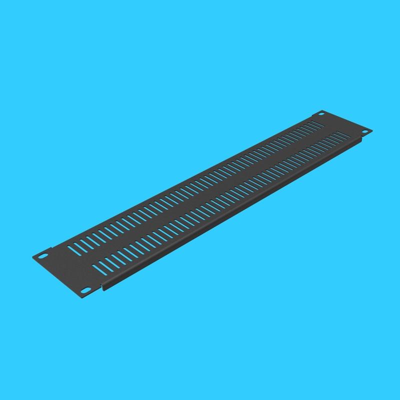 Высокое качество Черный 2U охлаждающая вентиляционная стойка глухая Фланцевая перфорированная панель монтажная пластина задняя пластина