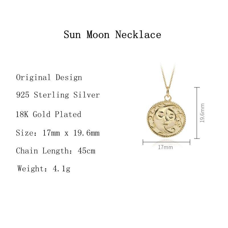 Louleur Collar Con Colgante De Sol Y Luna Para Mujer Plata De Ley 925 Auténtica Diseño Original Color Dorado Joyería Collares De Cadena Aliexpress