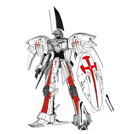 Positive Proportion Gundam Five Star Story LED MIRAGE Reed 3D Paper Model DIY