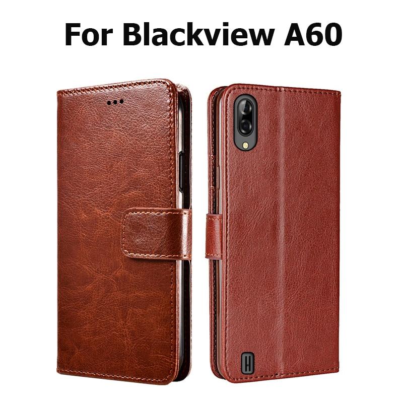 Blackview A60 A80 cubierta de la caja de lujo de la carpeta de cuero PU de negocios Flip Case On Blackview A60 A80 Pro libro Stand Smartphone bolsa caso