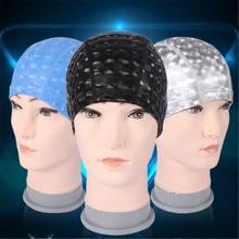 20pcs Women&men Water Cube Grids Swimming Caps,Ear Long Hair Protect Sports Swim Pool Cap,Teen Boy&Girl PU Waterproof Swim Hat