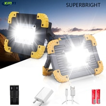 Lumière lumineuse superbe de travail de lépi Led de projecteur portatif de 100W 30000lm Led Rechargeable pour lusage extérieur de Lampe Lampe de poche Led 2*18650
