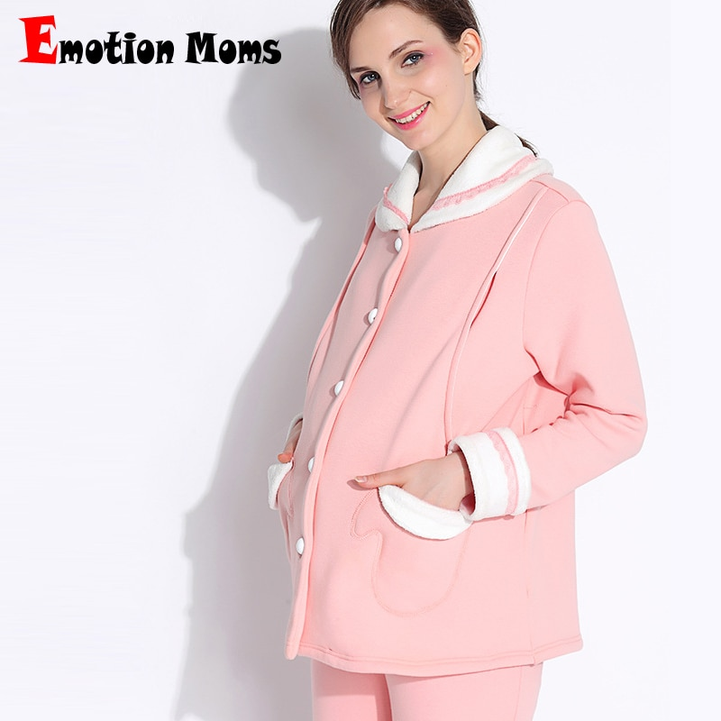 Emotion Moms maternity clothes Pregnancy Pajamas breastfeeding Pajamas Suit Nightwear nursing sleepwear Sets for pregnant women enlarge