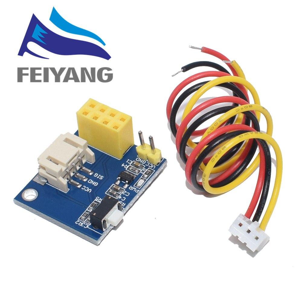 Módulo adaptador de Controlador LED RGB ESP8266 ESP-01 ESP-01S para Arduino IDE WS2812 anillo de luz electrónico inteligente Navidad DIY DC 5V