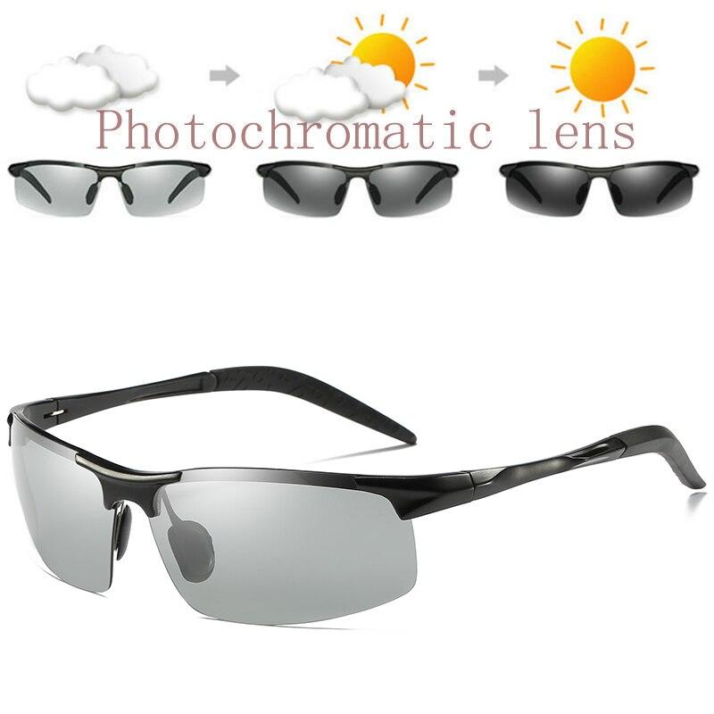 ZJHZQZ gafas de sol polarizadas para pesca UV400, gafas de sol fotocromáticas de aluminio y magnesio para conducción al aire libre, lentes de transición camaleón