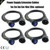 4 pièces d'extension DMX pour scène extérieure Extension d'alimentation connexion d'alimentation étanche 1m/2m/5m/10m en option