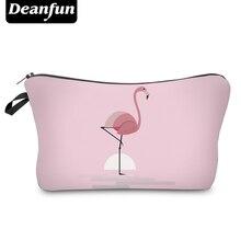 Deanfun Pink Cosmetic Bags 3D Printing Flamingo Cute Necessaries for Women Toiletry  Storage  51070