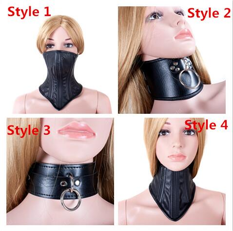 SM Bondage PU Leather Sexy Black Necklace Erotic Chastity Neck Collar Fetish Choker Gear Adult Games S&M Slave Sex Toys Sex Shop