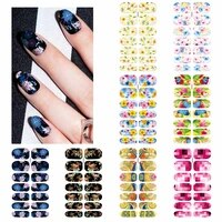 zko 1 sheet water transfer foil nails sticker butterfly flower design nails stickers nails styling tools water film paper decals