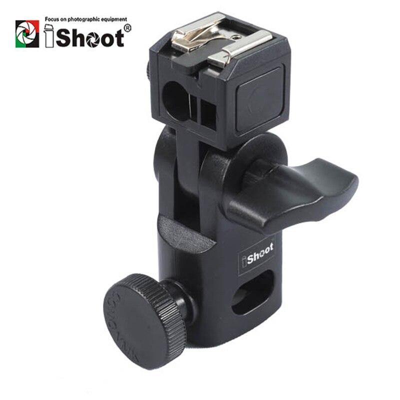 IShoot Mini soporte de Flash/paraguas-Universal de Metal montura con zapata para Canon Nikon Pentax Olympus Sony HVL-F60M Speedlite