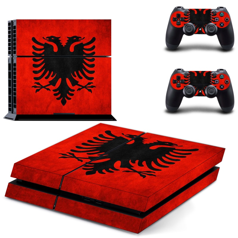 Bandeira Nacional Da albânia 4 PS4 Decalque Adesivo de Pele Para Sony Playstation 3 Console e Controladores 2 PS4 Pele Adesivo de Vinil