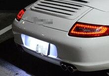 2 pièces blanc plaque dimmatriculation LED lumières lampes sans erreur pour 1999-up 911 Carrera (996 997) licence lampe assemblée