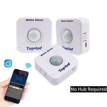 3 uds Sensor de movimiento WIFI APP Control Mini PIR Sensor WIFI movimiento Detector alarma inalámbrica SISTEMA DE SEGURIDAD DE LA CASA