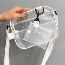 Décontracté 2 pièces PVC Transparent clair femmes petits sacs à bandoulière pour femmes sac à main clair sac à bandoulière ensemble gelée téléphone sacs W235