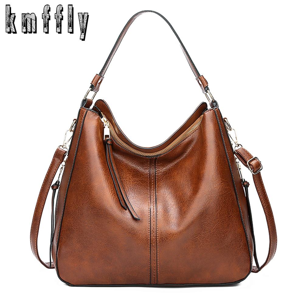 2020 Vintage Women Shoulder Crossbody Bag Female Brand Casual Big Totes High Quality PU Leather Ladies Hobo Messenger Bag Sac
