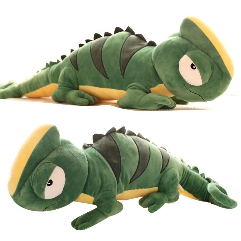 100cm Big Green Lizard Chameleon Plush Doll Toys Soft Pillow Birthday Gift High Quality