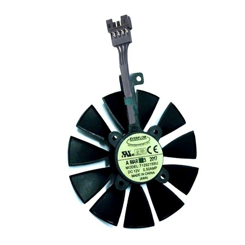VGA GPU ventilador T129215SU 87MM 4 Pin para ASUS Strix R9 390...