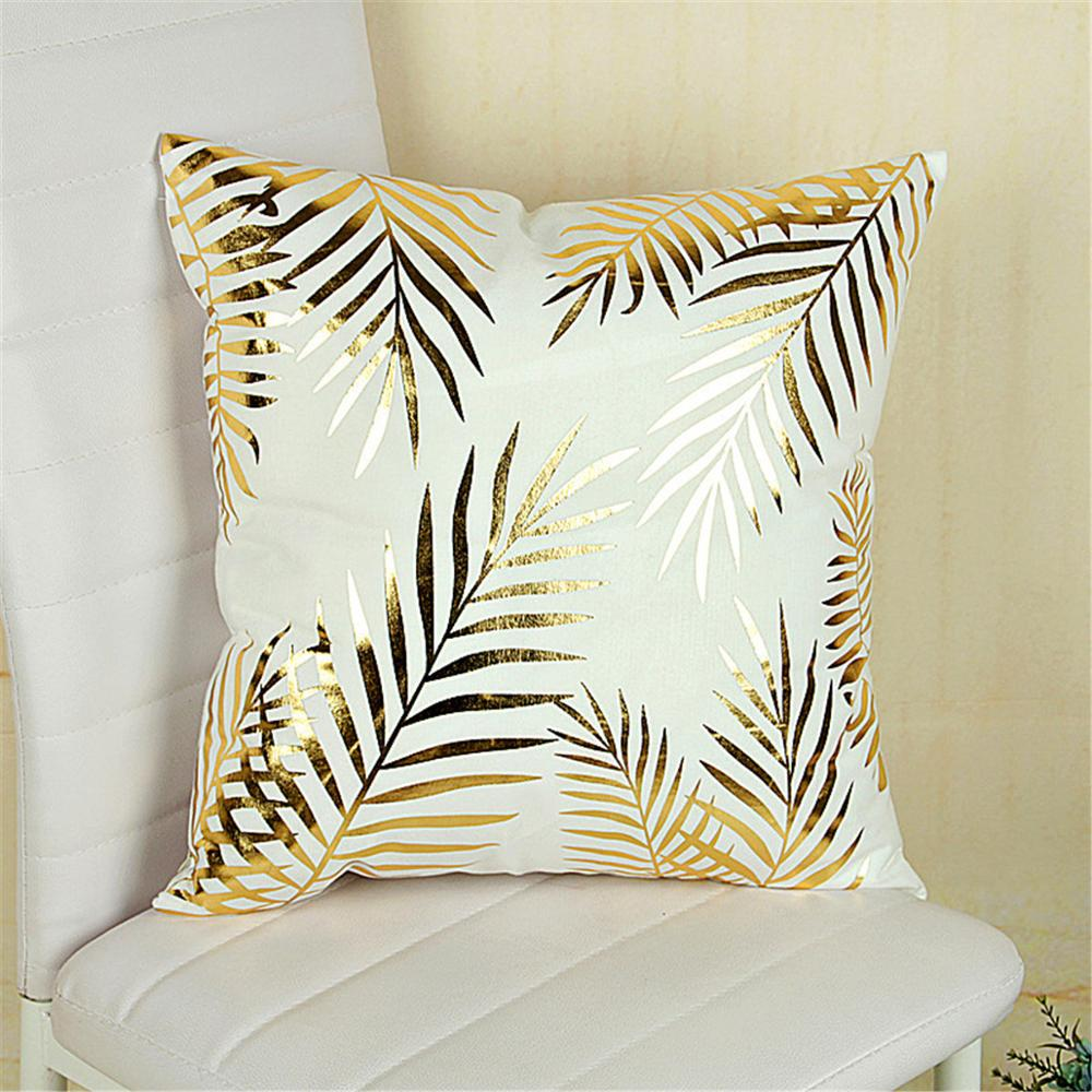 Bronzing Christmas Cushion Cover Gold Printed Pillow Cover Decorative Soft Pillow Case New  - buy with discount