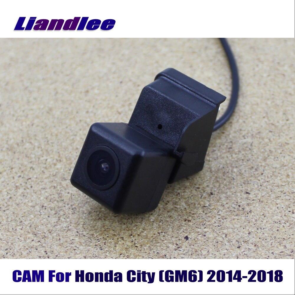 Cámara LiandLee retrovisor coche cámara de estacionamiento marcha atrás para Honda City (GM6) 2014-2018/Vista trasera de la cámara CCD HD Visión Nocturna