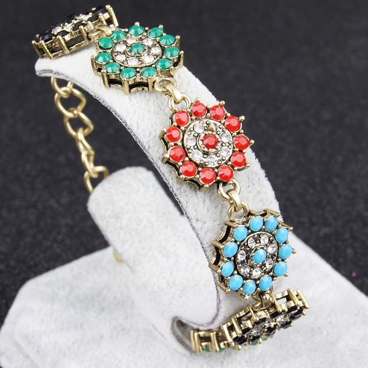 Pulseira boho feminina vintage, bracelete boho étnico cor dourada aliexpress