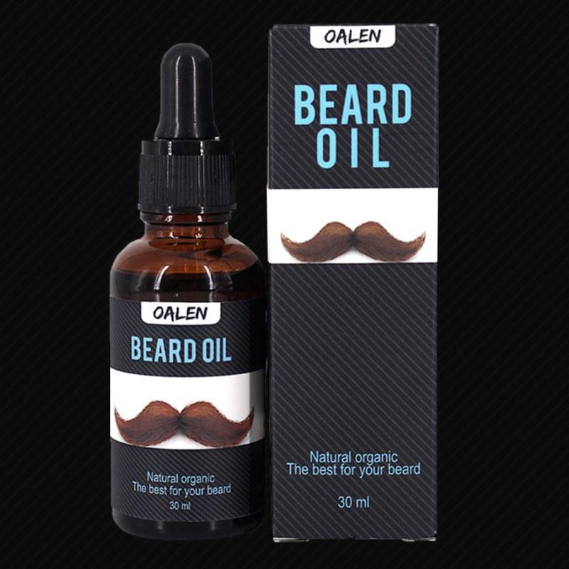 Acondicionador de 30ml de aceites esenciales y bálsamo para dar forma a la barba cera bigote alisador estilo hidratante