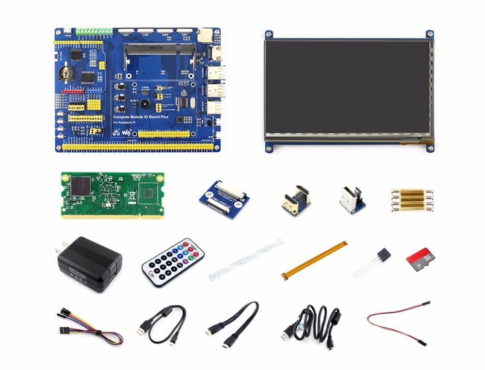Raspberry Pi Compute Module 3 Lite Development Kit Type B с вычислительным модулем 3 Lite 7 дюймов HDMI LCD, адаптер питания Micro SD Card