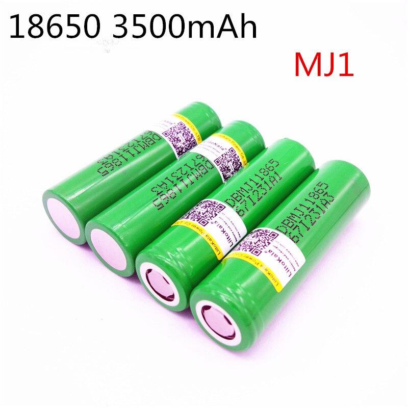 Liitokala Novo para MJ1 18650 INR18650MJ1 10A INR18650MJ1 célula de descarga da bateria li-ion 3500 mah baterias
