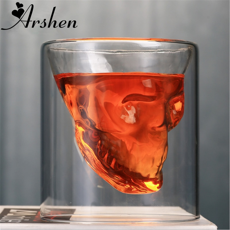 Vaso de cerveza de doble pared creativo Arshen de 4 tamaños copa de cerveza transparente vino whisky champán cócteles Drinkware fiesta regalo