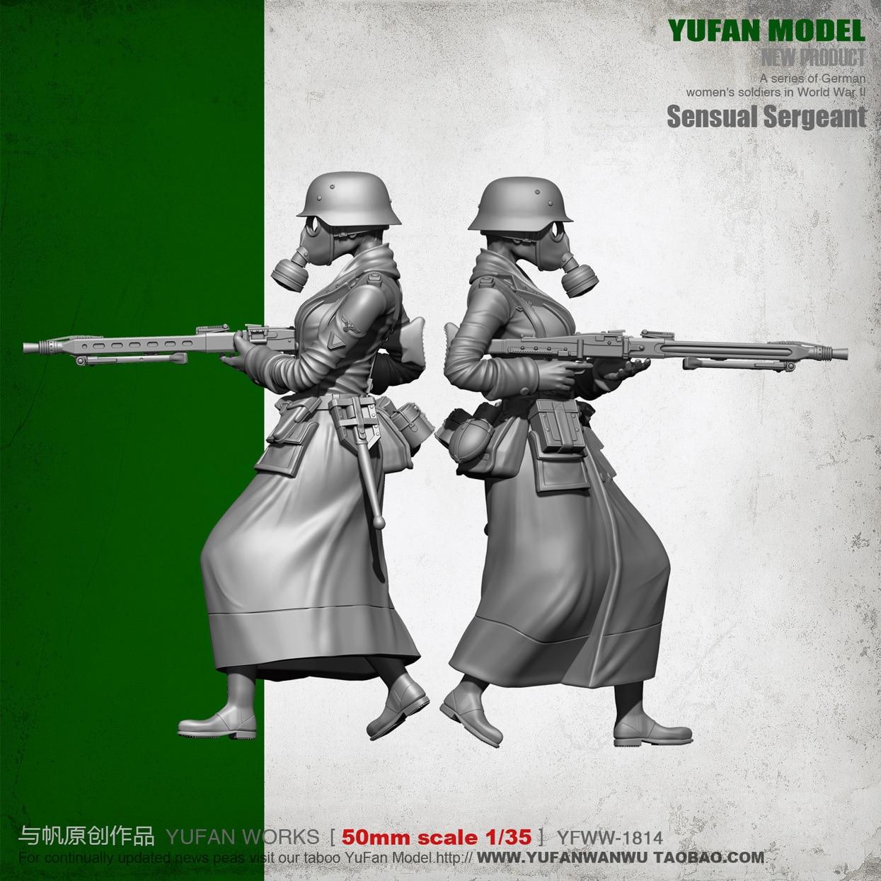 YUFAN modelo Original 1/35 máquina de belleza Gunner resina soldado YFWW35-1814 KNL Hobby