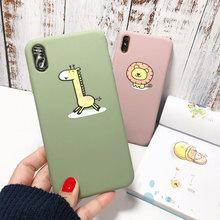 Coque souple en ptu pour iPhone X XS XR Xs 8 7plus coque Animal Lion girafe pour iPhone 6 6S Plus coque simple en ptu