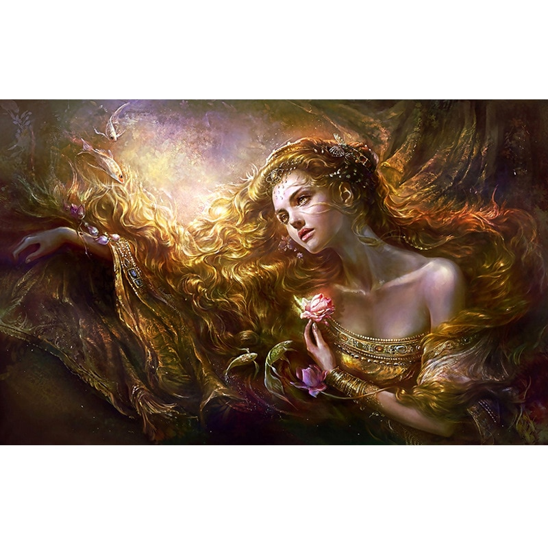5d diy pintura a óleo pintura diamante beleza mulher elegante graça completa redonda diamante artesanal mosaico decoração casa presente amante