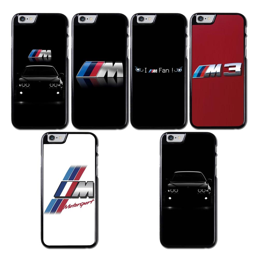 Carcasa con logo de BMW M3 M5 M4 Power para iPhone Samsung 4S 5S SE 6 S 7 8 XR XS Max Note 9 S5 S7 S6 Edge S8 S9 S10 Plus Lite