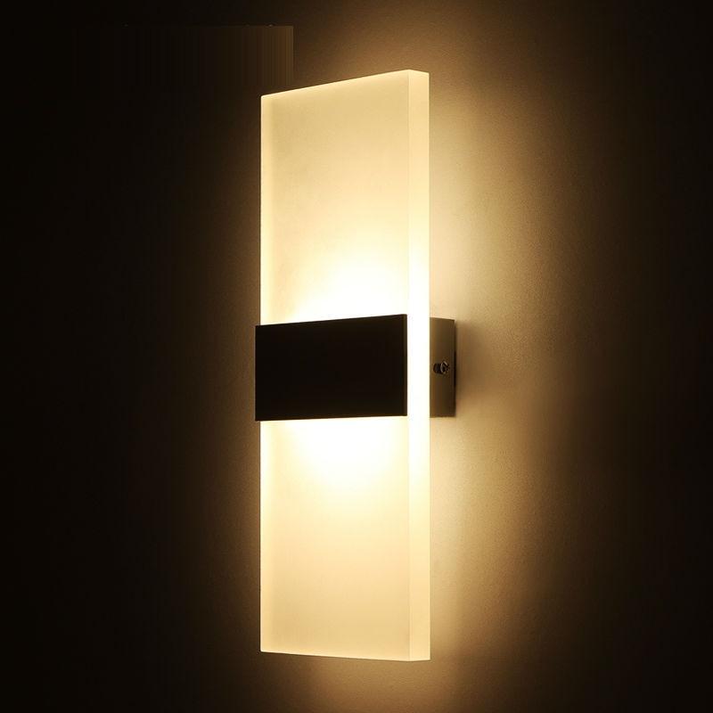 Lámpara de espejo LED de 3 w/6 w SMD cuadrada Becostar, montaje de luz hacia arriba y hacia abajo, tamaño 140*60mm/290*110mm