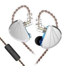 FDBRO basse DJ course Sport HIFI casque KB10 5BA Armature équilibrée dans loreille filaire écouteur avec Microphone écouteurs F1/opale ZS10