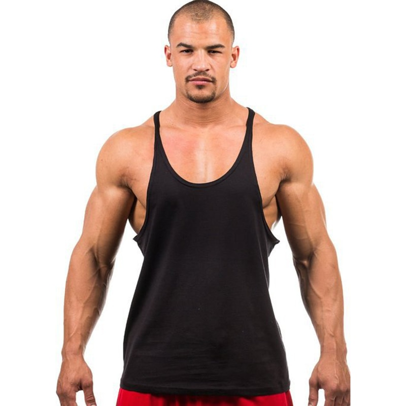 7 Colors Men Tank Top Men Stringer Tank Top Fitness Singlet Sleeveless Shirt Workout Man Undershirt