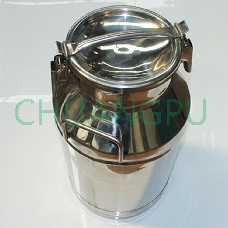 Cubo de leche personalizado, lata de leche de acero inoxidable 304 de 25 litros