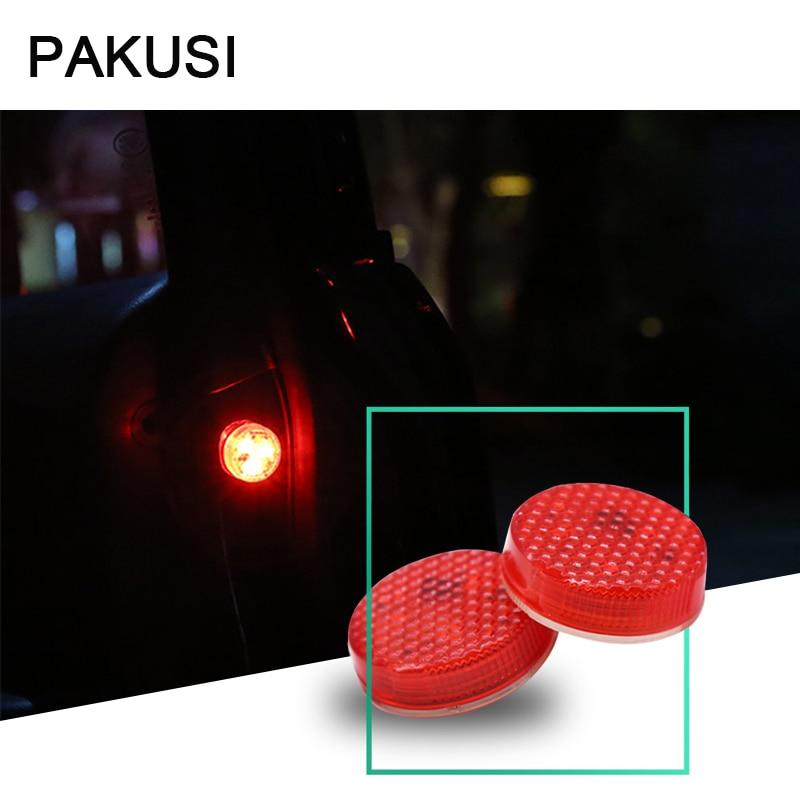 Luz estroboscópica de luz LED de puerta de coche PAKUSI, seguridad de advertencia para Citroën c4 c5 Honda civic Ford focus 2 3, accesorios Chevrolet cruze